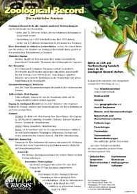Biosis - ZR fact German
