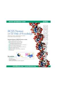 Biosis - BIOSIS Previews WOK
