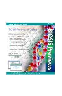 Biosis - BPDialog