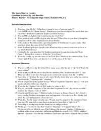 The Gilder Lehrman Institute of American History - questions 14