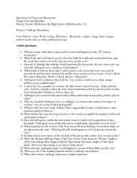 The Gilder Lehrman Institute of American History - questions 6