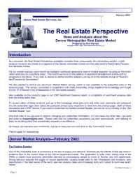 James Real Estate - February 2003