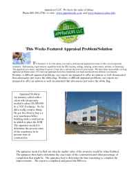Appraisers, LLC - featured appraisal problem 1031 exchange value of building under construction