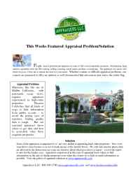 Appraisers, LLC - featured appraisal problem high value properties