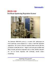 MTI Corporation - IBDS