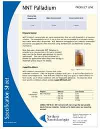 Northern Nanotechnologies - Pd specs