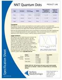 Northern Nanotechnologies - qdot specs