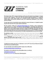 Film Festival Today - fft advertising form