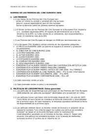 European Film Academy - Regulations 2006 Esp