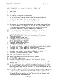 European Film Academy - Regulations 2006deu