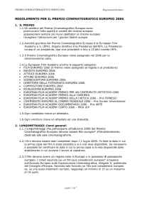 European Film Academy - Regulations 2006ita