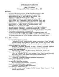 Williams Appraisal - SOQ