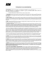 H and M Company - Subcontractor Form Jobsite Rules