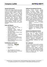 AstroSoft Development - company leaflet
