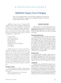Ophthalmic Surgery, Lasers and Imaging - OSLIinfoauth