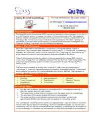 Versa Systems - Case Study AZ BOC