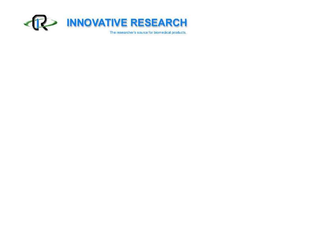 Innovative Research, Inc. - humanplasmapricing 2006