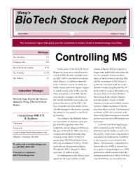 BioTech Navigator Investment Newsletter - 3 03 News Color Blank