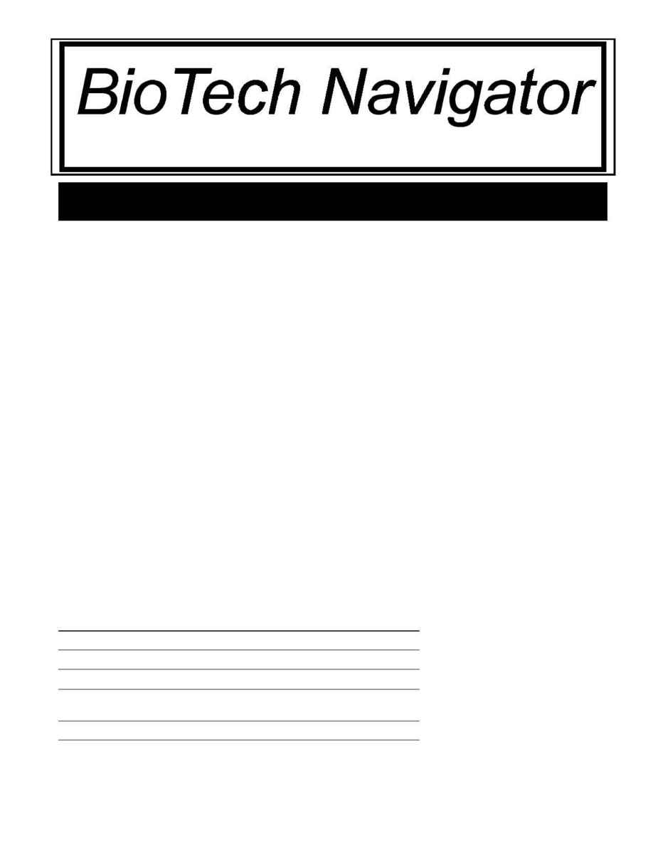 BioTech Navigator Investment Newsletter - News 3 98