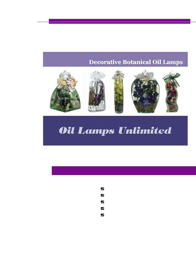 HomeDecorPlus.com - Oil Lamps Unlimited E Brochure