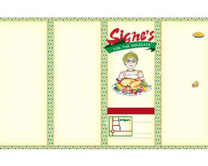 Signe's Heaven Bound Bakery - Holiday menu 2005 2