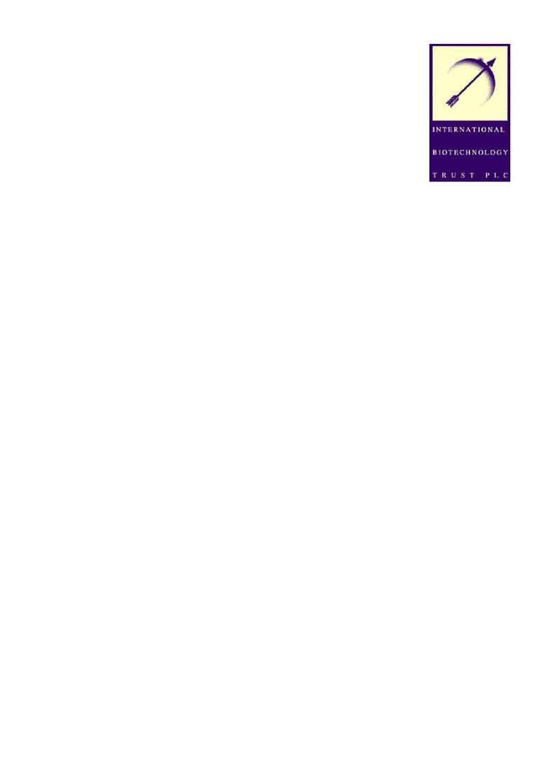 International Biotechnology Trust (IBT) - 22 aug 2001