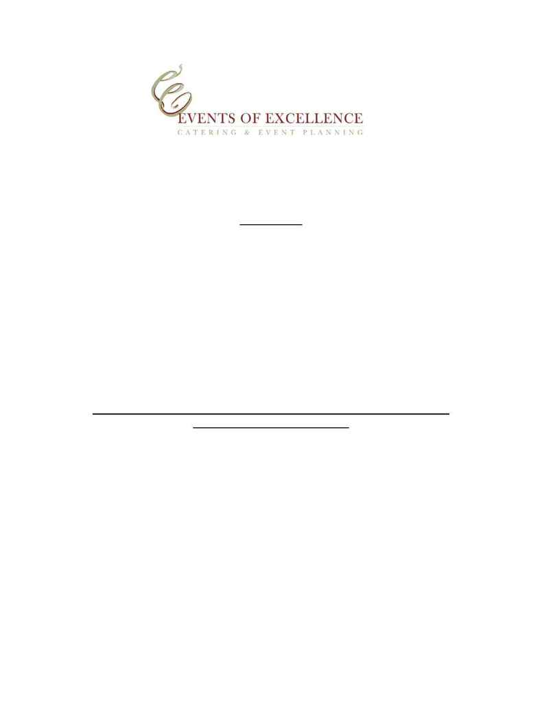 Events of Excellence - entrees