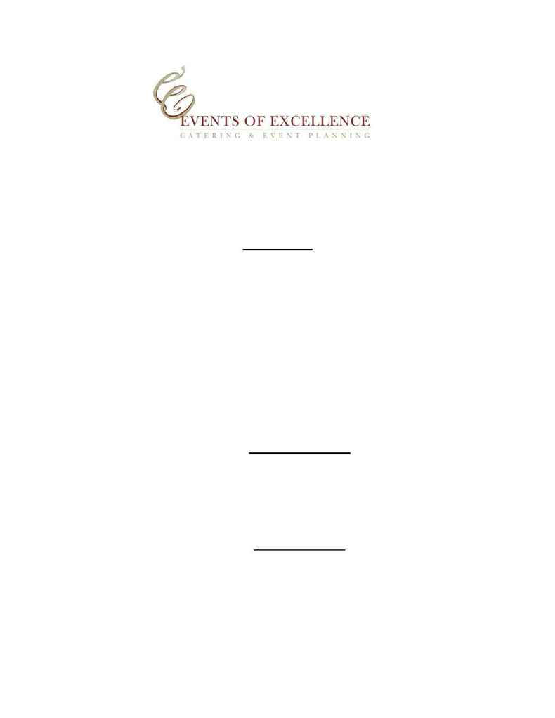 Events of Excellence - signature sandwiches
