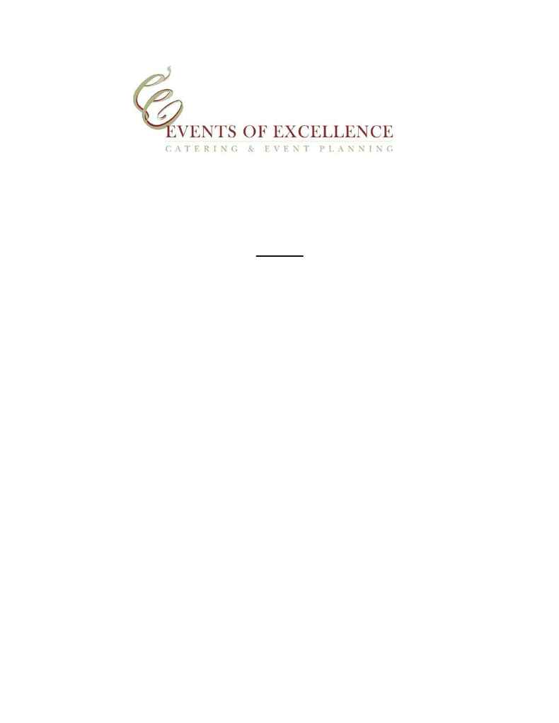 Events of Excellence - small bites and snacks