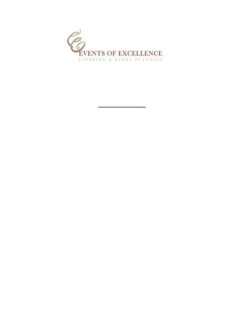 Events of Excellence - specialty salads
