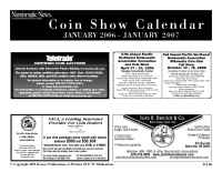 Collect.com - Coin Show Calendar 0106 0107