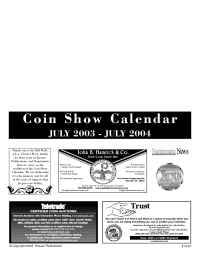 Collect.com - Coin Show Calendar 0703 0704
