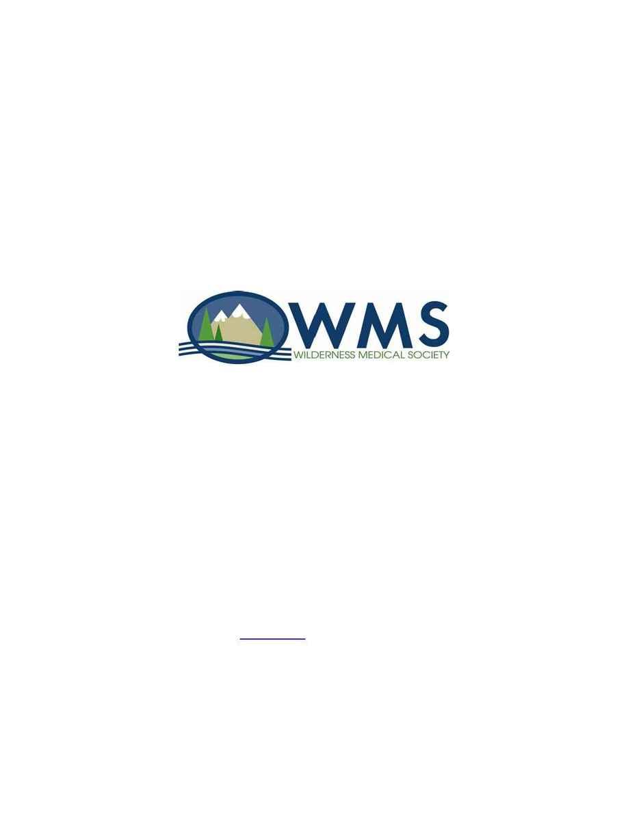 Wilderness Medical Society - snowmass 2005