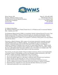 Wilderness Medical Society - Letterto Deanrevised 2004