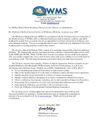 Wilderness Medical Society - Dean Letter 2006