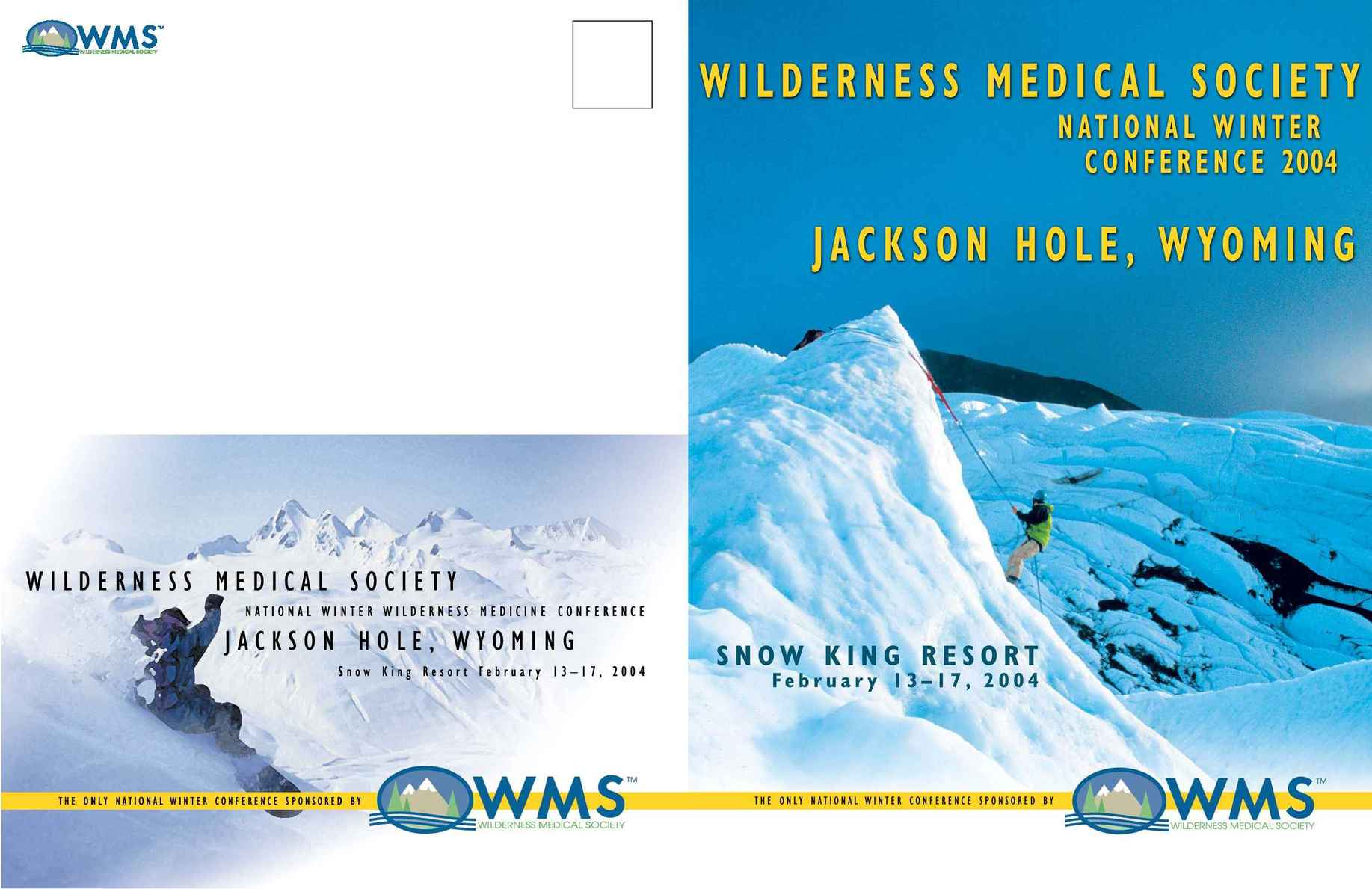 Wilderness Medical Society - jackson hole