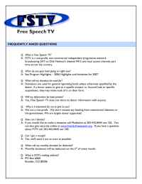 Free Speech TV Cable Project - FAQs