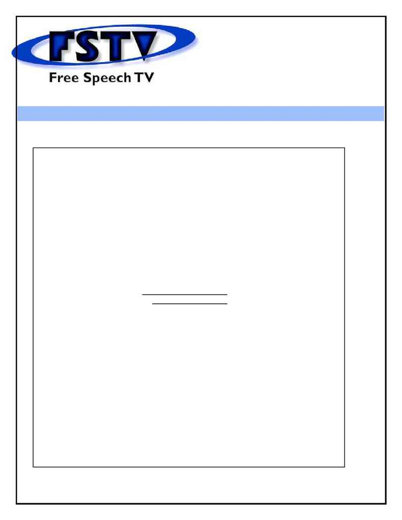 Free Speech TV Cable Project - Sample Email Invite