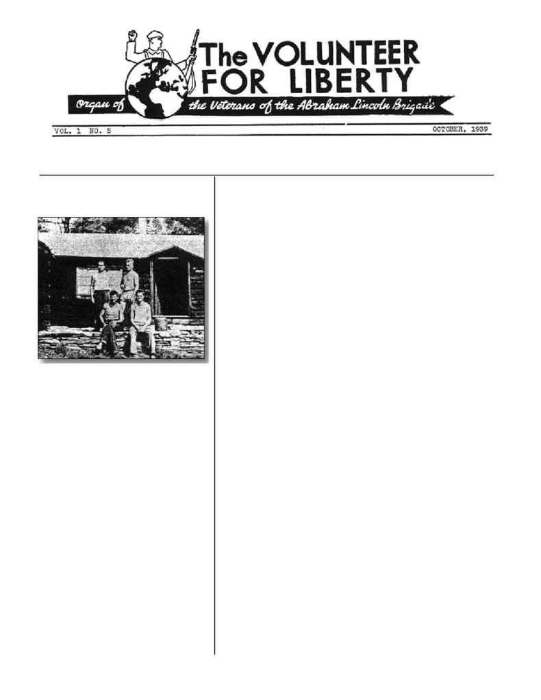 Abraham Lincoln Brigade Archives - vol 1939 10
