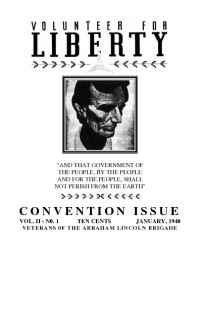 Abraham Lincoln Brigade Archives - vol 1940 01